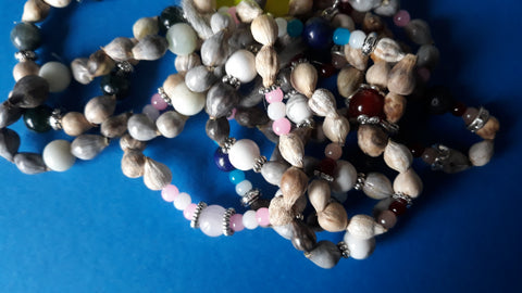 Jobs Tears Natural Seed Pod Beaded Bracelet medium