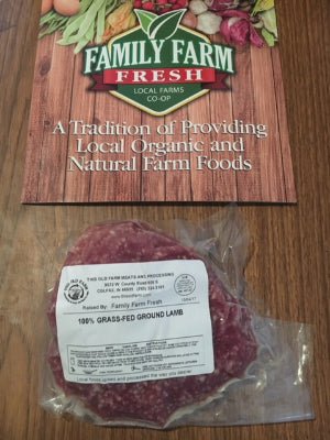 Lamb 100% Grass Fed (ground) approx. 1 lb