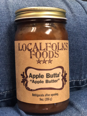 9oz Apple Butta' Apple Butter - LocalFolks Foods