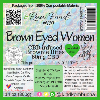 Brown Eyed Women - CBD Vegan Brownie Bites - 60mg CBD