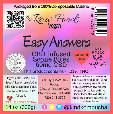 Easy Answers - CBD Vegan Scone Bites - 60mg CBD