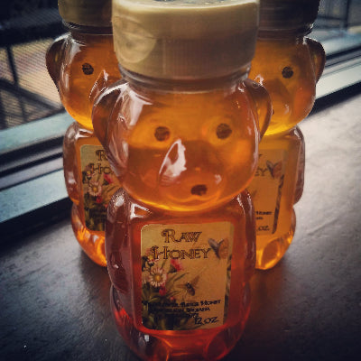 12oz Wildflower Ridge Raw Honey Bear