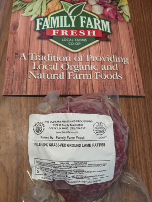 Lamb 100% Grass Fed 4 pack Patties approx 1.25lb