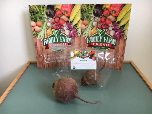 USDA Cert. Organic Red Beets (large  1-1.5lb) 2 pk