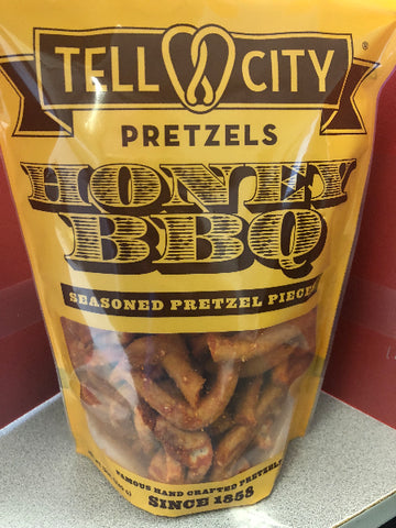 12oz Honey BBQ Seasoned Pretzel Pieces - Tell City Pretzels