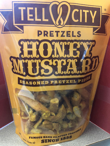 12oz Honey Mustard Seasoned Pretzel Pieces - Tell City Pretzels