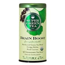 Republic of Tea Organic Brain Boost SuperGreen Tea - 36ct unbleached tea bags