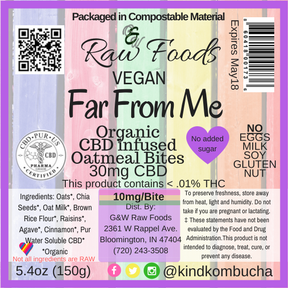 Far From Me - CBD Vegan Oatmeal-Raisin Bites - 30mg CBD