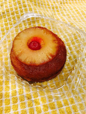 2 Personal Pineapple UpSide Down Cakes Gluten & Dairy Free