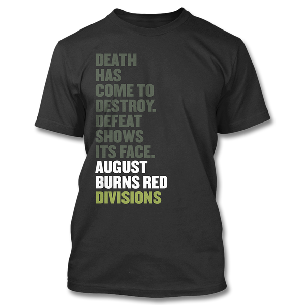 4448c583 Official August Burns Red Divisions T-shirt | Apparel | August Burns Red