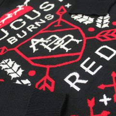 Arrows Knitted Holiday Sweater - August Burns Red - 3