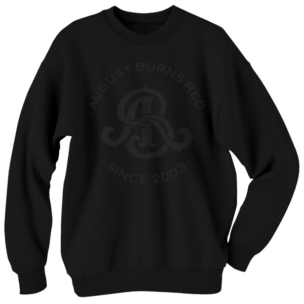 Black on Black Monogram Crewneck Sweatshirt