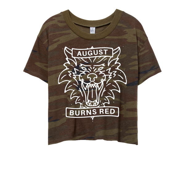 Wolf Ladies Cropped Tee