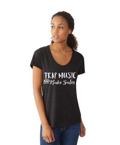 Trap Music and Bake Sales Adult S/S (BLACK)