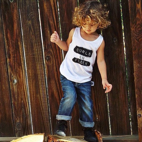 Curls On Fleek Child Tank (WHITE)