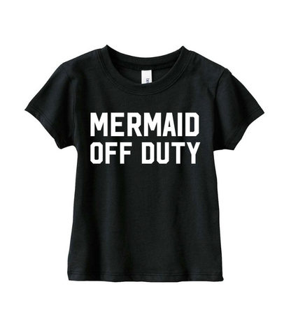 Mermaid Off Duty S/S (BLACK)