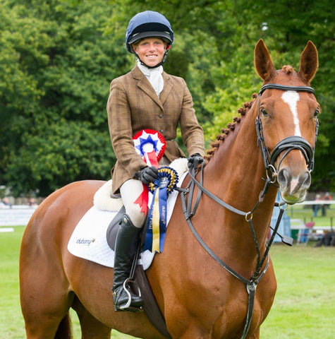 Rosalind Canter Eqclusive CCI4* eventing sponsored rider