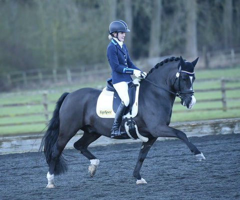 Holly Kerslake sponsored dressage rider for Eqclusive
