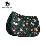 DotiBel Numnah SATIN Roses Black