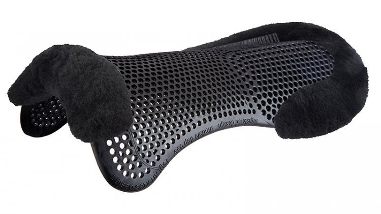 Acavallo Just-Gel Lambskin Rear Riser Half Pad Full / Black - Eqclusive