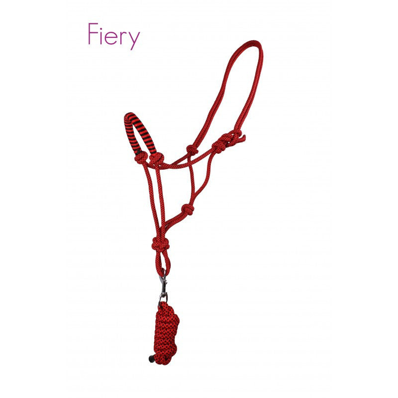 QHP Rope Head Collar Set Pony / Fiery - Eqclusive  - 6