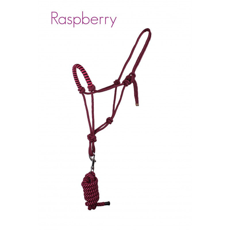 QHP Rope Head Collar Set Pony / Raspberry - Eqclusive  - 5