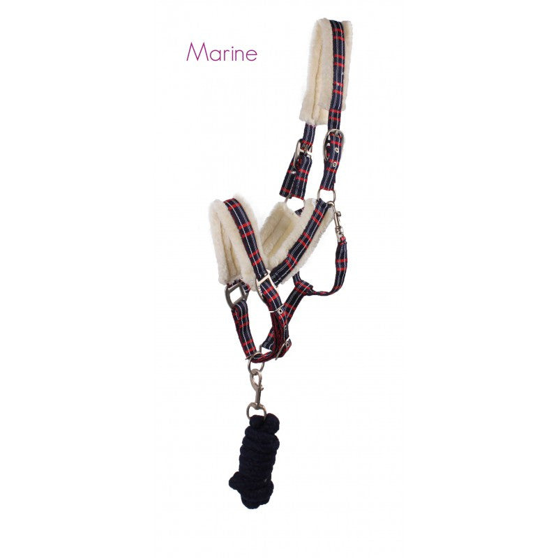 QHP Head Collar Set Fur Shet / Marine - Eqclusive  - 1