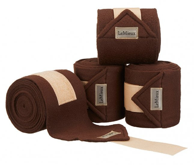 LeMieux Luxury Polo Bandages Full (Set of 4) / Brown/Beige - Eqclusive  - 8