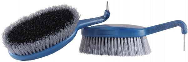 HAAS Hoof pick with brush-DUO Blue - Eqclusive