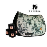 DotiBel Numnah SATIN LIGHT BEIGE/BLACK LACE