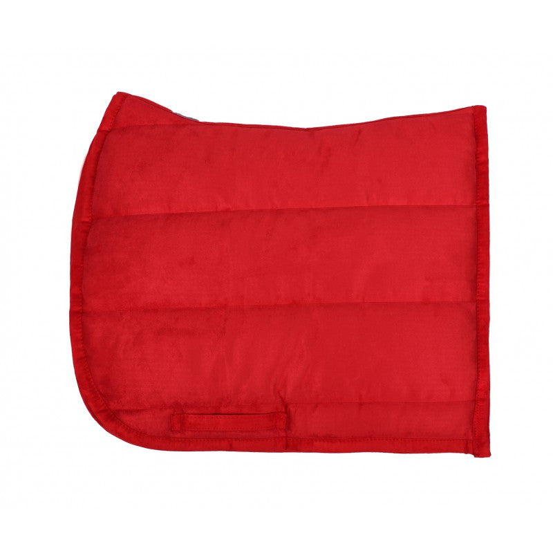 QHP Puff Pad Shaped Numnah / Saddle Pad Full / Bright Red - Eqclusive  - 1