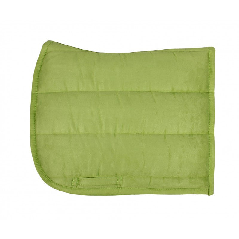 QHP Puff Pad Shaped Numnah / Saddle Pad Full / Lime - Eqclusive  - 5