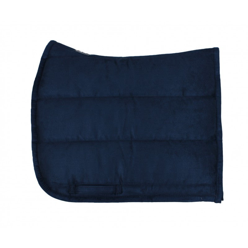 QHP Puff Pad Shaped Numnah / Saddle Pad Full / Navy - Eqclusive  - 4