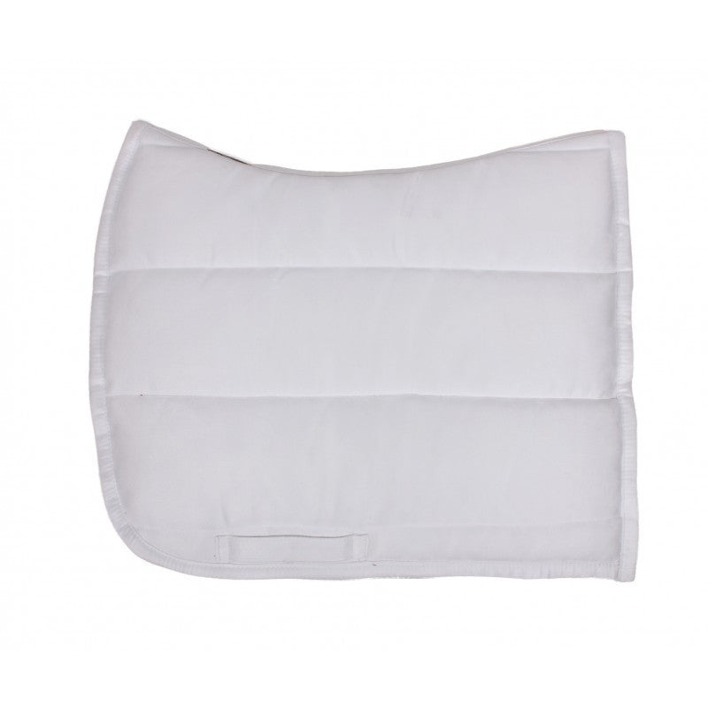 QHP Puff Pad Shaped Numnah / Saddle Pad Full / White - Eqclusive  - 7