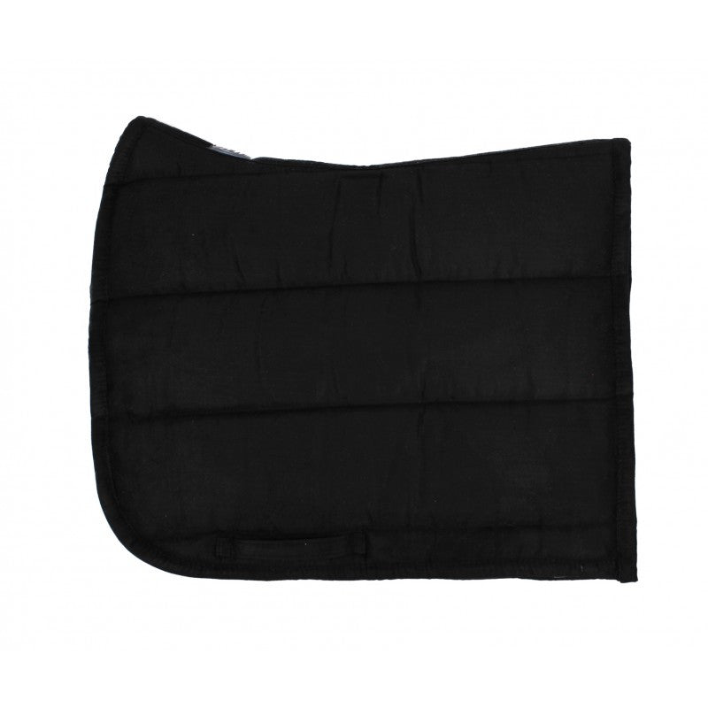 QHP Puff Pad Shaped Numnah / Saddle Pad Full / Black - Eqclusive  - 3