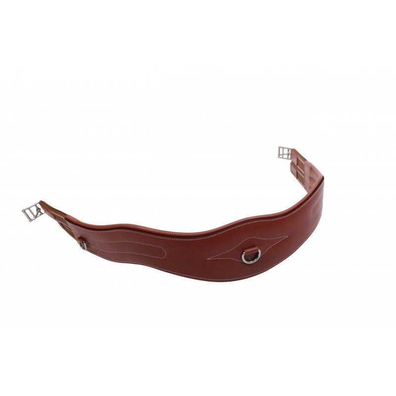 QHP Girth With Luxury Stitching 95 / Brown - Eqclusive  - 3