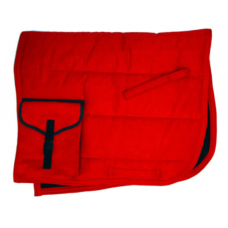 QHP Puff Pad with Pockets Pony / Bright Red - Eqclusive  - 1