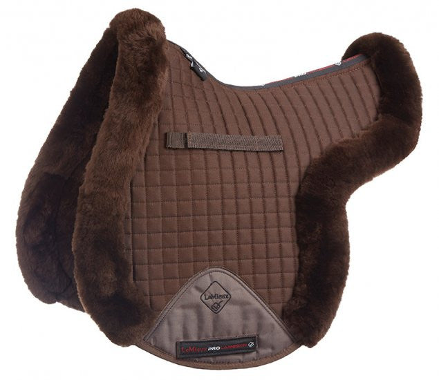 LeMieux ProLambswool Full Monty GP Numnah M / Brown - Eqclusive  - 2