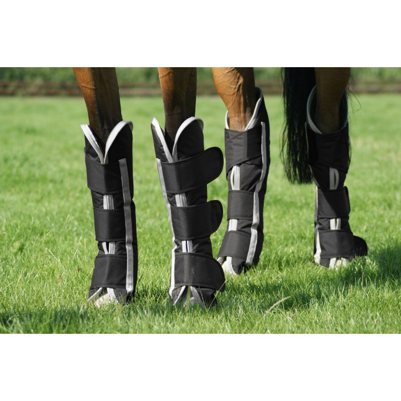 QHP Travel Boots Turnout Pony / Black - Eqclusive  - 1