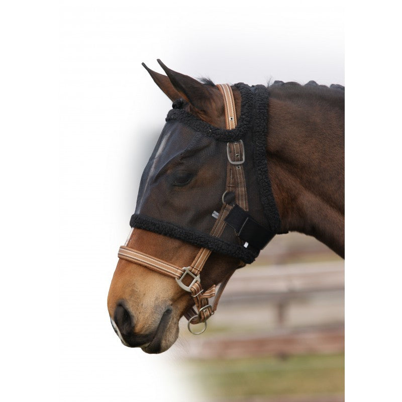 QHP Fly Mask Without Ear Protection Foal / Black - Eqclusive