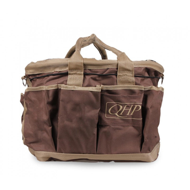 QHP Grooming Bag Brown/Beige - Eqclusive  - 8