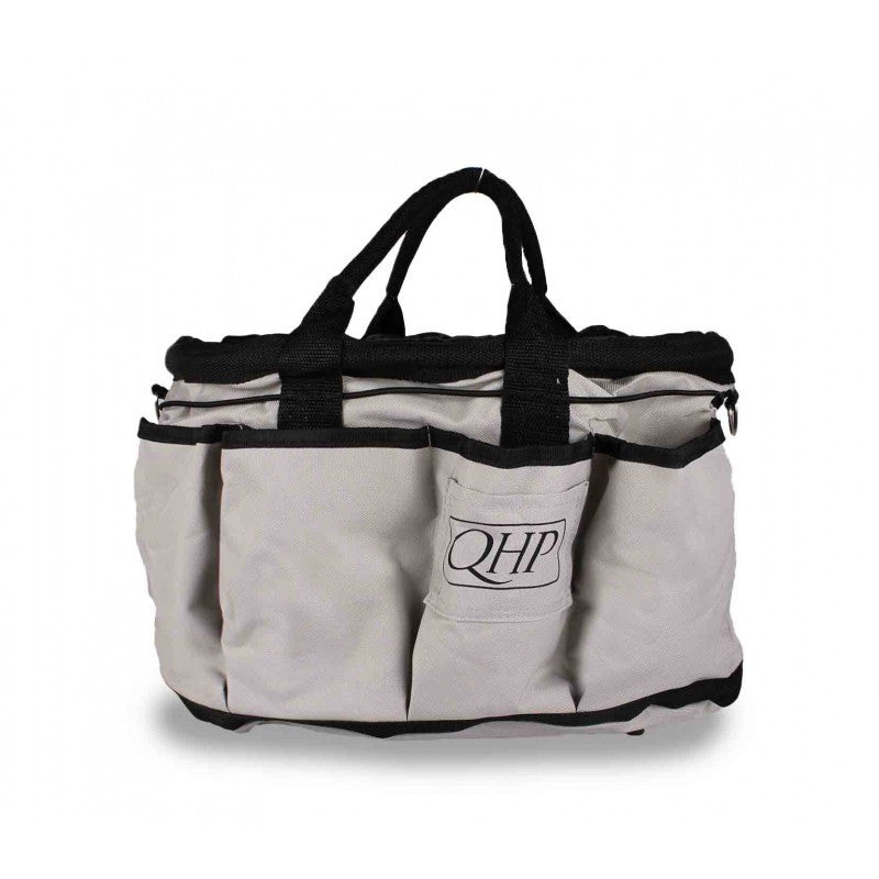 QHP Grooming Bag Grey/Black - Eqclusive  - 6
