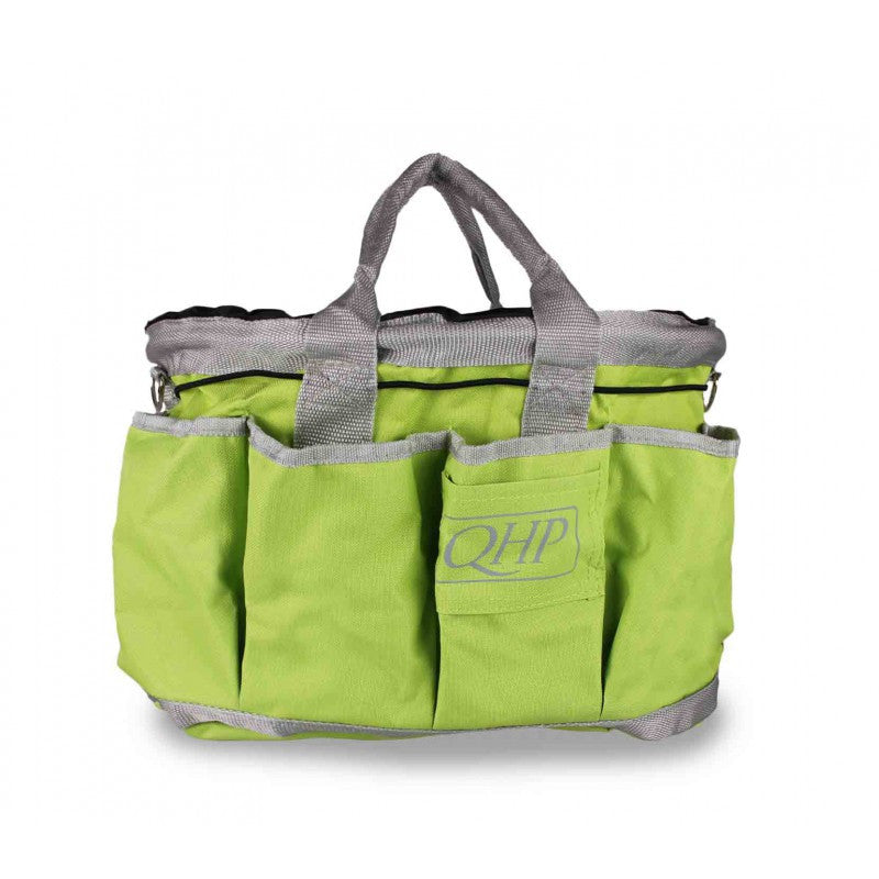 QHP Grooming Bag Lime/Grey - Eqclusive  - 5