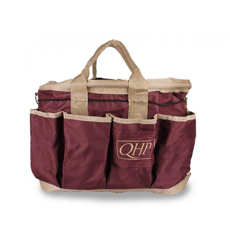 QHP Grooming Bag Red Brown/Beige - Eqclusive  - 4