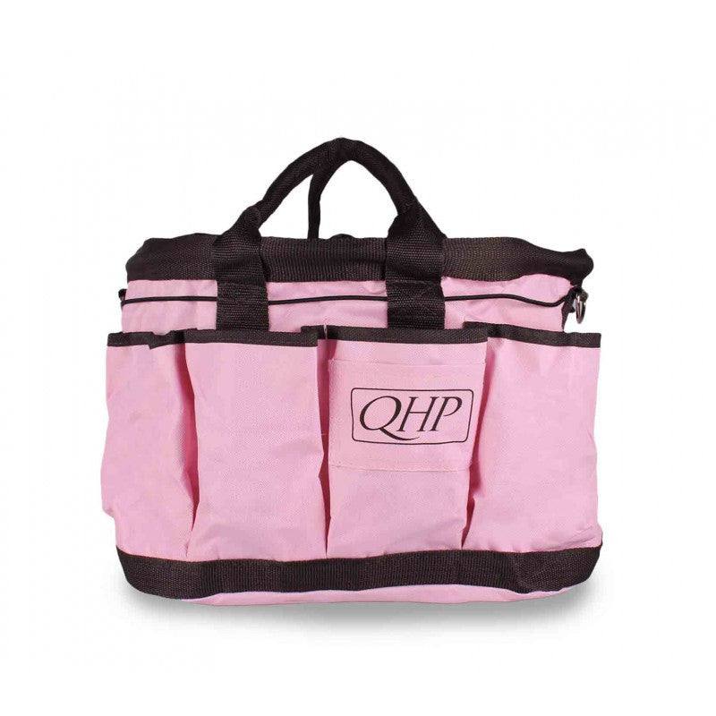 QHP Grooming Bag Pink/Brown - Eqclusive  - 2
