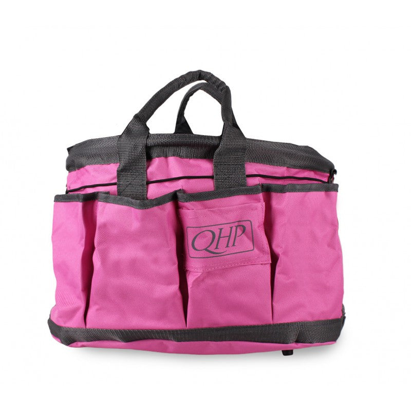 QHP Grooming Bag Pink/Grey - Eqclusive  - 11
