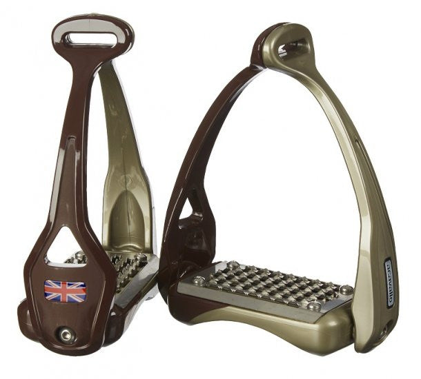 Acavallo Opera Stirrup (Flag options in product description) 1 / Brown - Eqclusive  - 2