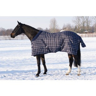 QHP Luxury Stable Rug 125 / Blue Checkered - Eqclusive  - 1