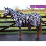 QHP Anti-Fly Rug with Neck and Hood 125 / Zebra - Eqclusive  - 1