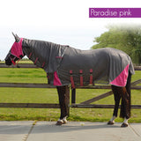 QHP Anti-Fly Rug with Neck and Hood 125 / Paradise Pink - Eqclusive  - 4